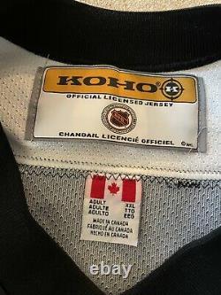 Vintage Pittsburgh Penguins Autographed XXL CCM Jersey NHL ROBO PENGUIN Rare