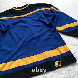 Vintage Starter Pittsburgh Penguins NHL Jersey Blue Size M