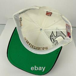 Vtg Pittsburgh Penguins Laser Sports Specialties Snapback Hat Cap NHL White