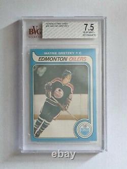 Wayne Gretzky 1979-80 O-Pee-Chee OPC #18 Rookie Card RC BGS BVG 7.5 (PSA 8)
